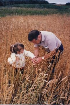 Cara and Grandpa Duane in the Rye Fields